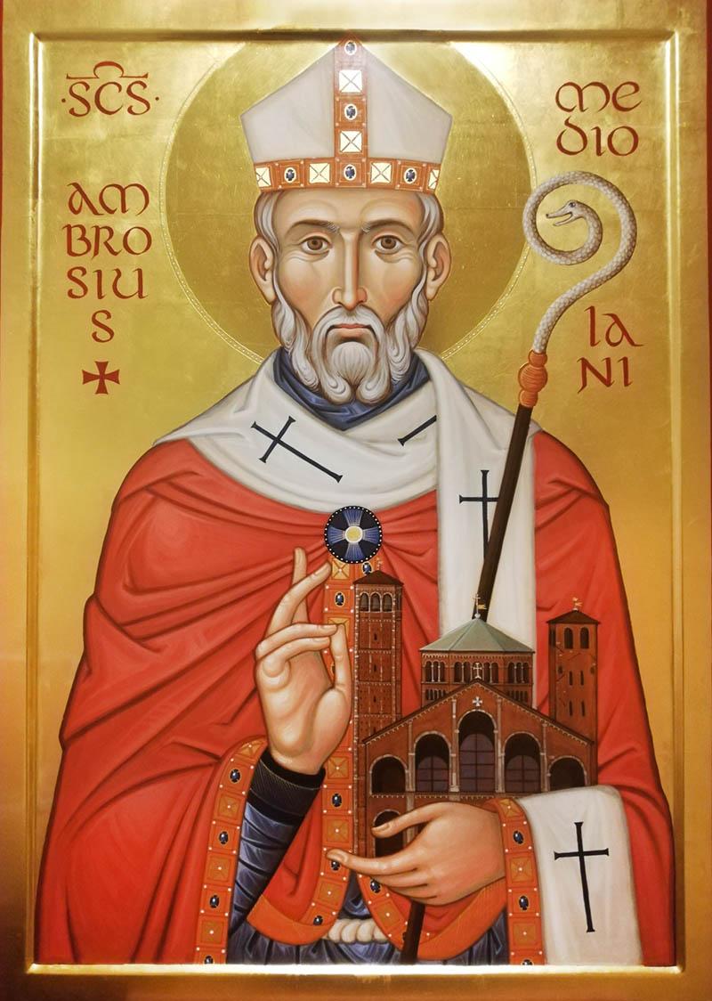 Sant'Ambrogio a Milano un'icona della Scuola
